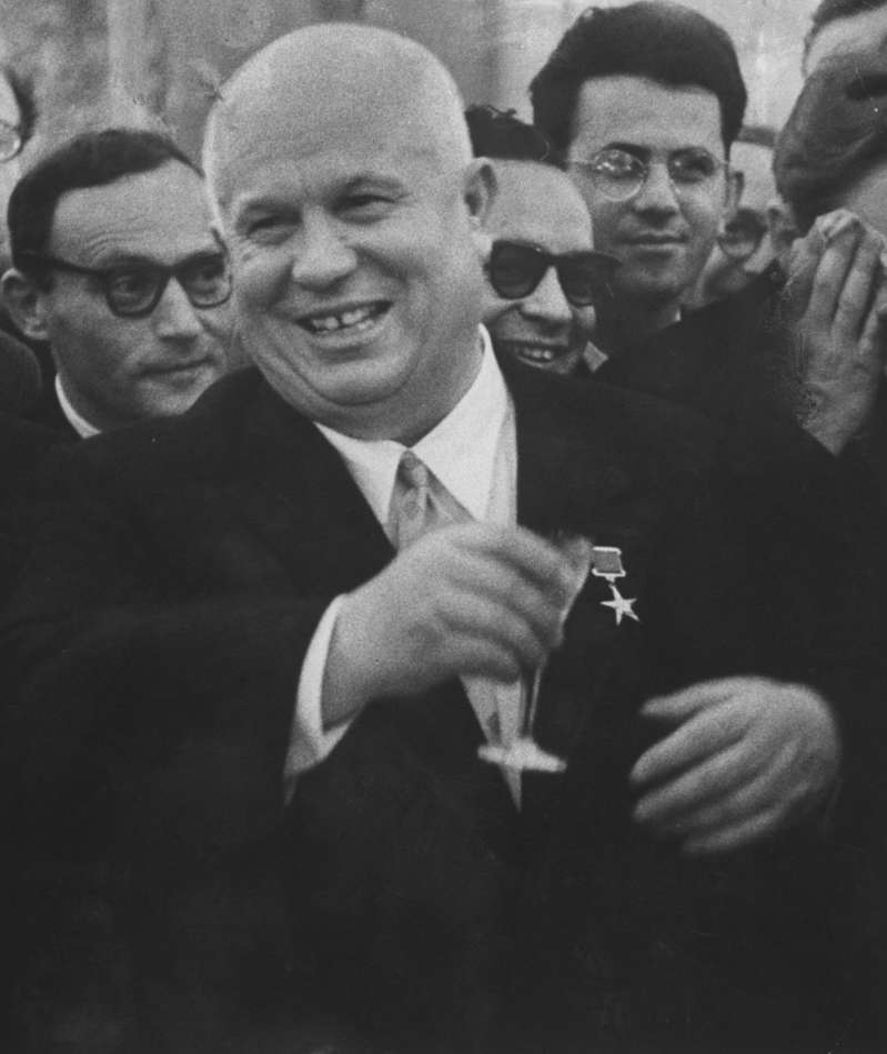 In any year, Khrushchev was as extraordinary a dictator as the world has ever seen. Not since Alexander the Great had mankind seen a despot so willingly, so frequently, and so publicly drunk. Not since Adolf Hitler had the world known a braggart so arrogantly able to make good his own boasts. In 1957 Nikita Khrushchev did more than oversee the launching of man's first moons. He made himself undisputed and single master of Russia. Few men had traveled so far so fast.  —