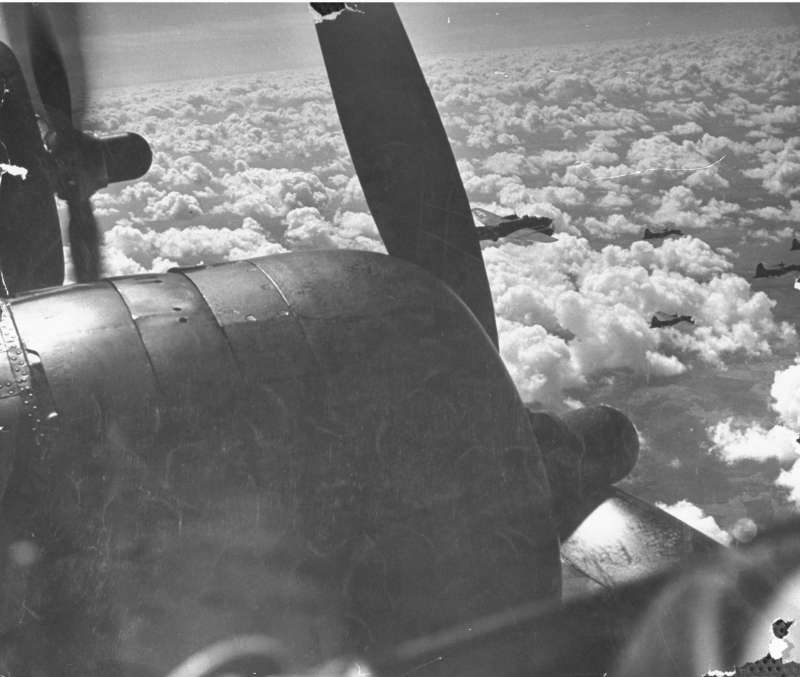 One of the engines of  Winning Run,  an American B-17 Flying Fortress, is not functioning on its way back to England from a 1942 bombing mission to Stuttgart, Germany. All engines were lost just before landing.