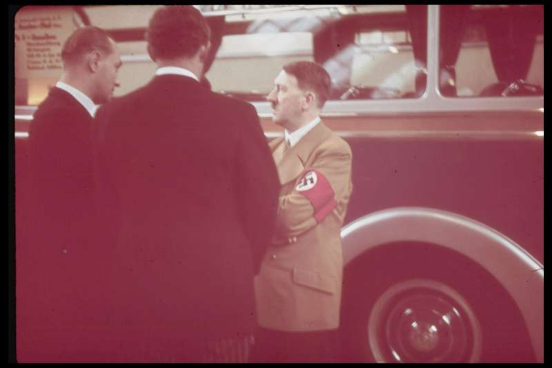 Adolf Hitler at the 1939 International Auto Exhibition in Berlin.