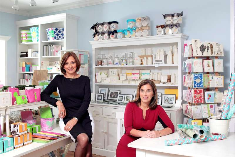 Amy Bass (L) and Evvy Diamond (R) came to owning a stationery store from different paths. Their complementary skills make them a great team.