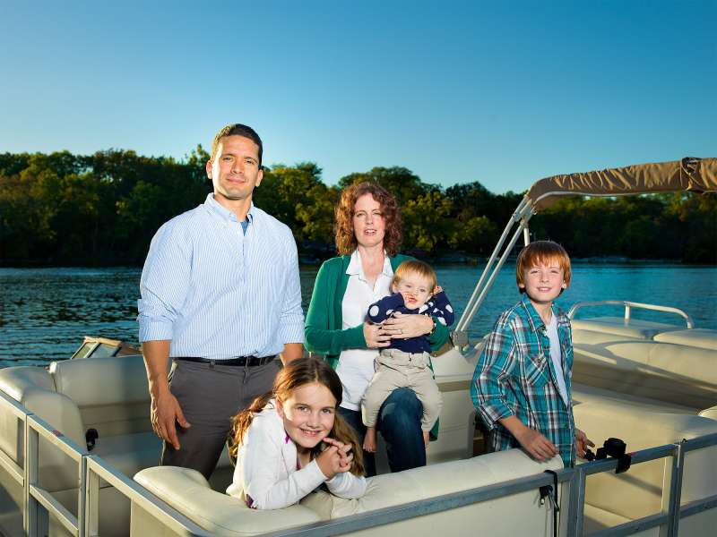 Bill and Christina Balderaz, 39 and 37, Upper Arlington, Ohio.               The couple got a windfall when Bill's company was sold. But in hopes of retiring before 60, they continue to spend as carefully as before.