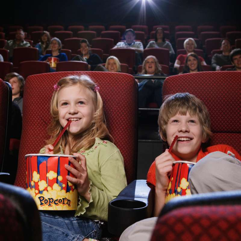 kids at movie theaters