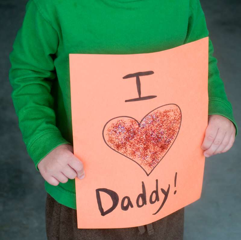 Homemade I Love Daddy sign