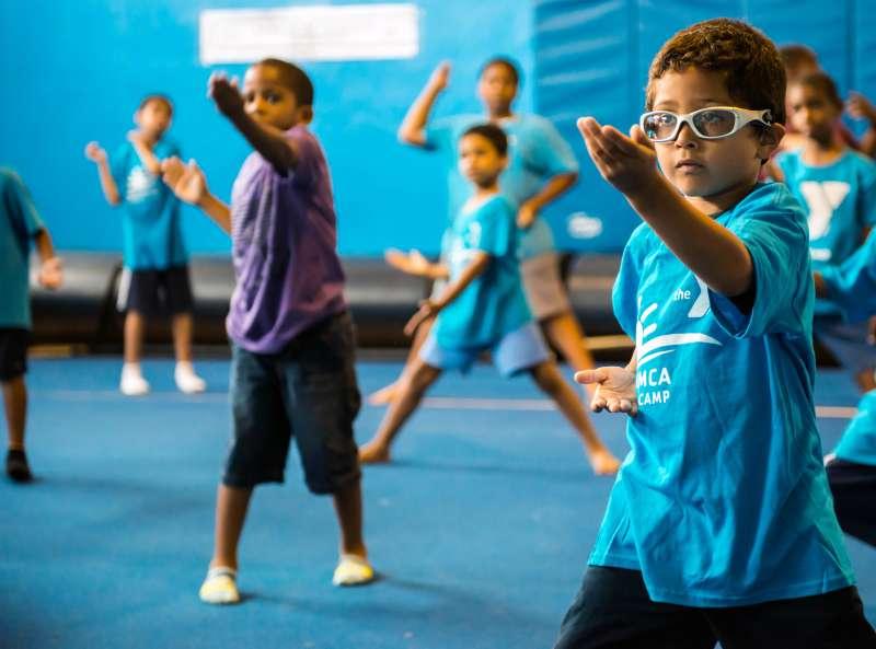 Martial Arts at the Cross Island YMCA summer camp.