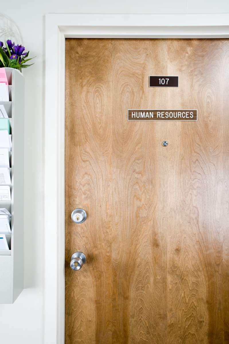 Human resources office door