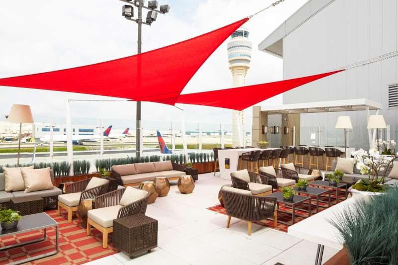 The Sky Deck at the Delta Sky Club