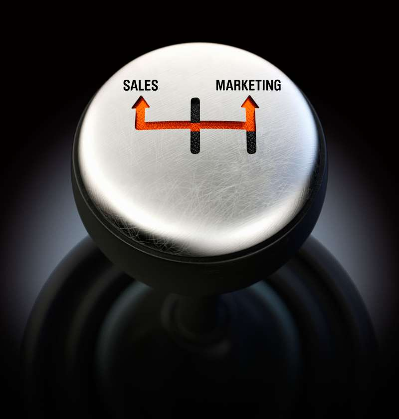 Gear shift from Sales to Marketing