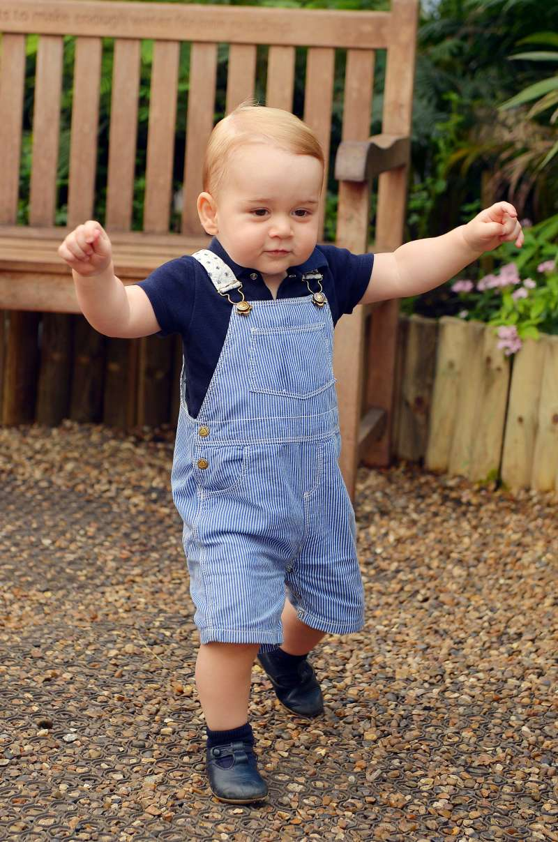 Britain's Prince George is seen ahead of his first birthday