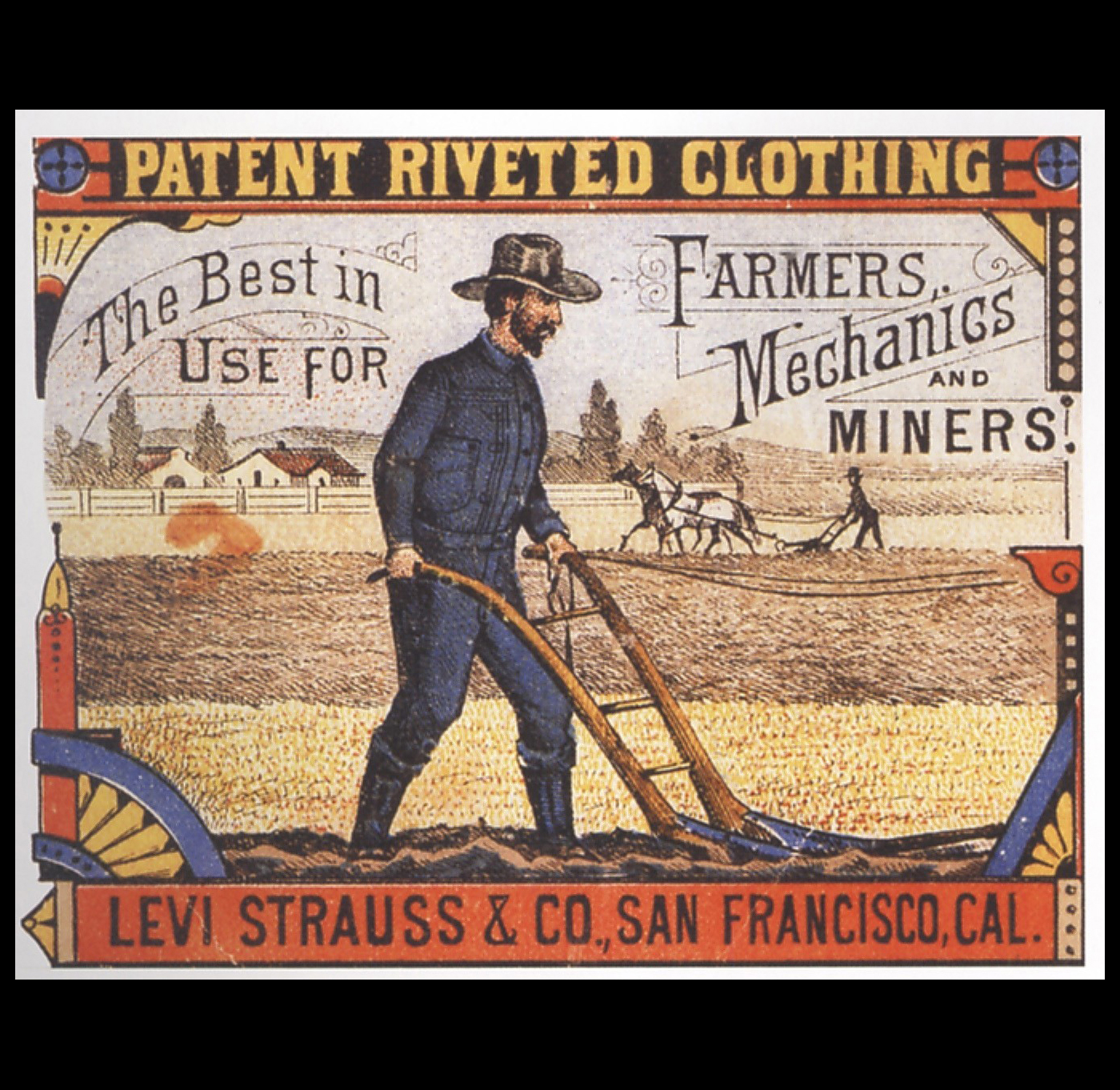 The 1880s: Levis original USA jeans were still a novelty.