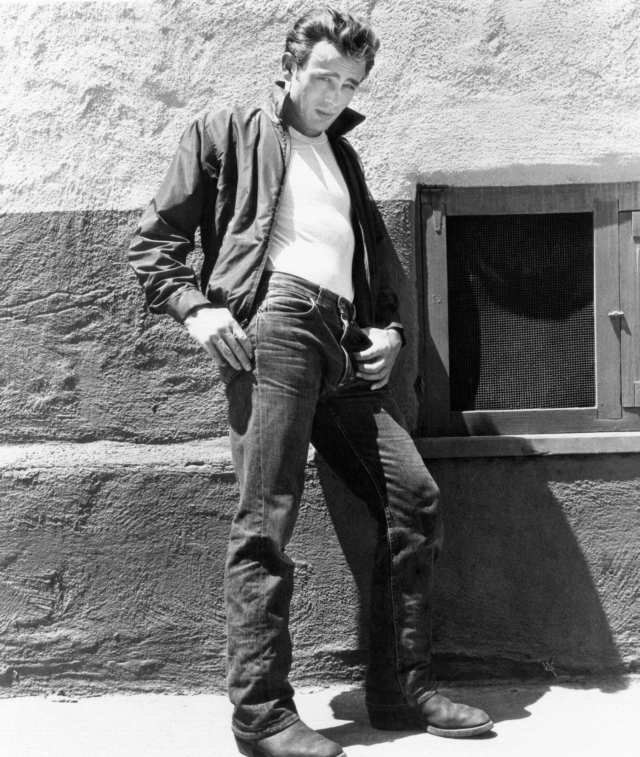 "The 1950s: James Dean made denim iconic in ""Rebel Without a Cause."""