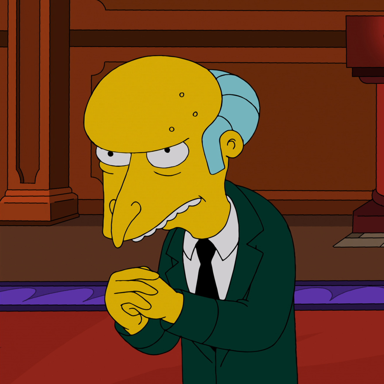 Monty Burns on THE SIMPSONS