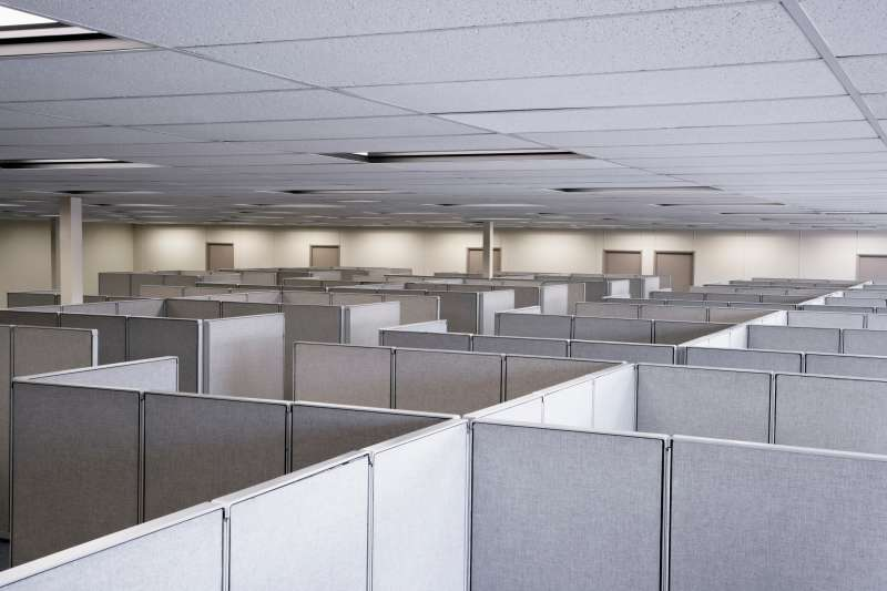 empty cubicles