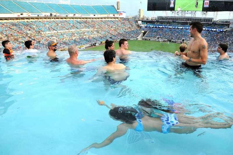 Pool at the Jacksonville Jaguars stadium