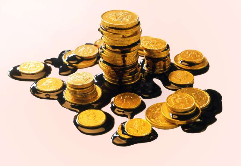 melting chocolate coins