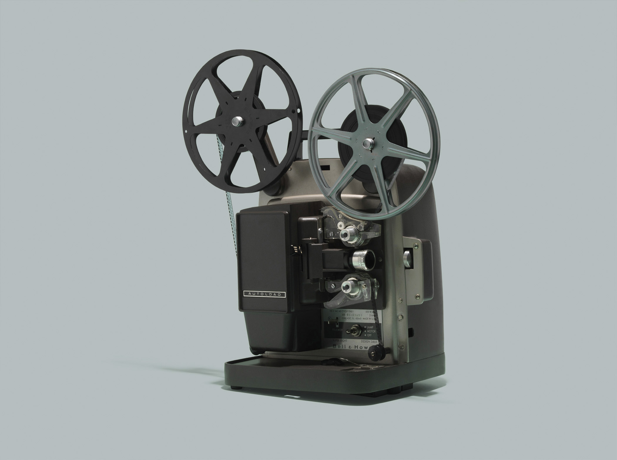 """Bell &amp; Howell Autoload Design 346A Super 8 projector. In 1965, Bell &amp; Howell offered four projector models priced at $95 to $215, per the <a href=""""http://query.nytimes.com/gst/abstract.html?res=9C05E0D91F38E13ABC4A53DFB366838E679EDE"""" title=""""New York Times"""" target=""""_blank"""">New York Times</a>.  <strong>Today's equivalent:</strong> Epson EX5220 Wireless XGA 3LCD Projector. List price $549.99, available for $490.18 on <a href=""""http://www.amazon.com/Epson-EX5220-Wireless-Projector-V11H551020/dp/B00E87E1LK/ref=sr_1_1?ie=UTF8&amp;qid=1411150455&amp;sr=8-1&amp;keywords=Epson+EX5220+Wireless+XGA+3LCD+Projector"""" title=""""Amazon.com"""" target=""""_blank"""">Amazon.com</a>."""