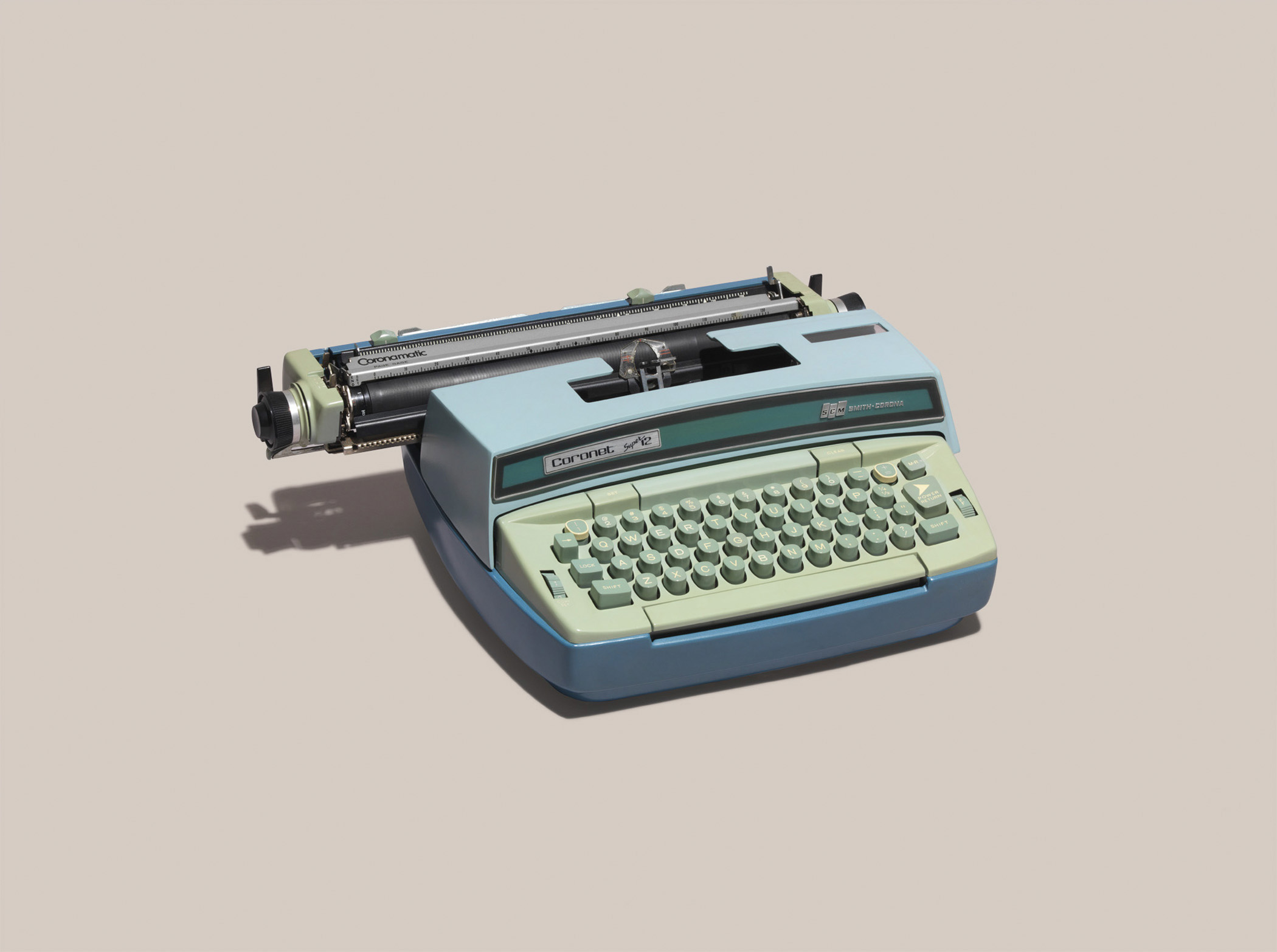 """SCM Smith-Corona, Coronet Super 12 Typewriter. 1976 List price: $160, per <a href=""""http://books.google.com/books?id=aaEnAQAAMAAJ&amp;q=SCM+Smith-Corona+Coronet+Super+12&amp;dq=SCM+Smith-Corona+Coronet+Super+12&amp;hl=en&amp;sa=X&amp;ei=-DkcVLPCG-jCsASJhoKgBg&amp;ved=0CEMQ6AEwAg"""" title=""""Consumers' Research Handbook of Buying"""" target=""""_blank"""">Consumers' Research Handbook of Buying. </a><strong>Today's equivalent:</strong>  Apple MacBook Air. List Price: Starting at $899, available at <a href=""""http://store.apple.com/us/buy-mac/macbook-pro"""" title=""""The Apple Store"""" target=""""_blank"""">The Apple Store</a>."""