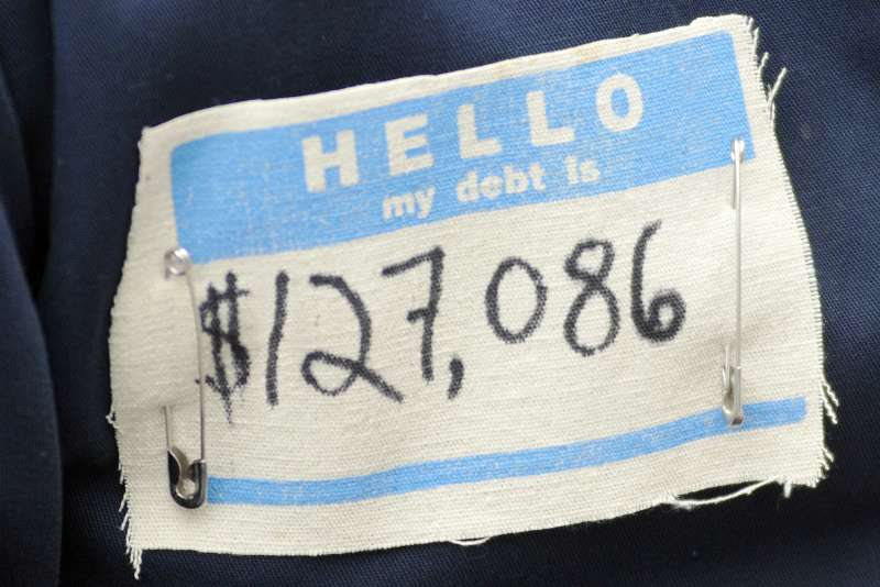 Hello my debt is $127,086 name label