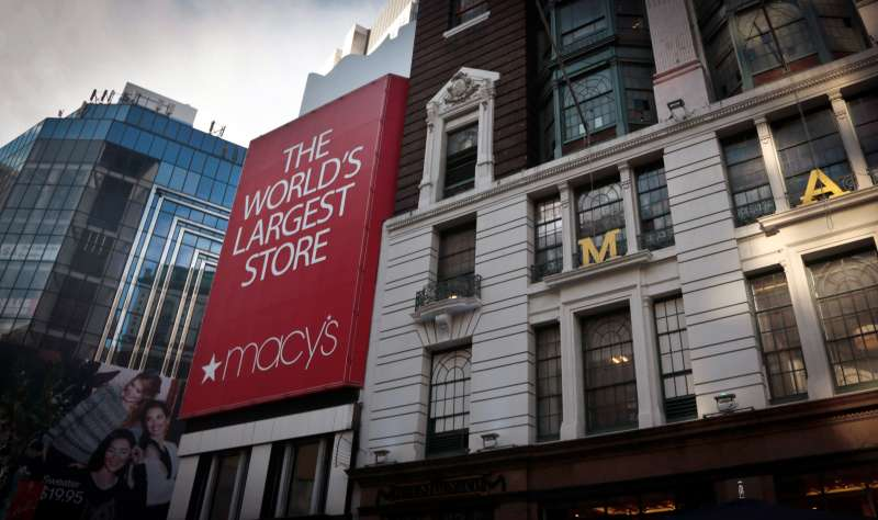 A view of a Macy's flagship store in New York.