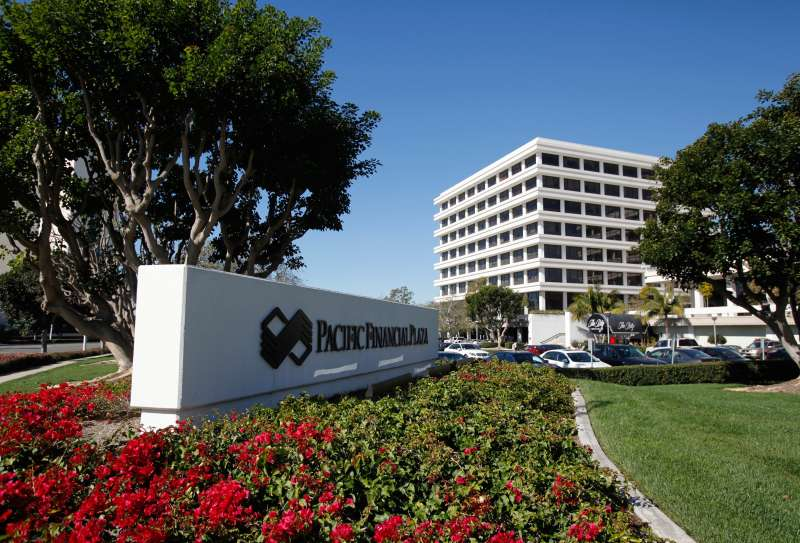 The headquarters of investment firm PIMCO is shown in Newport Beach, California.