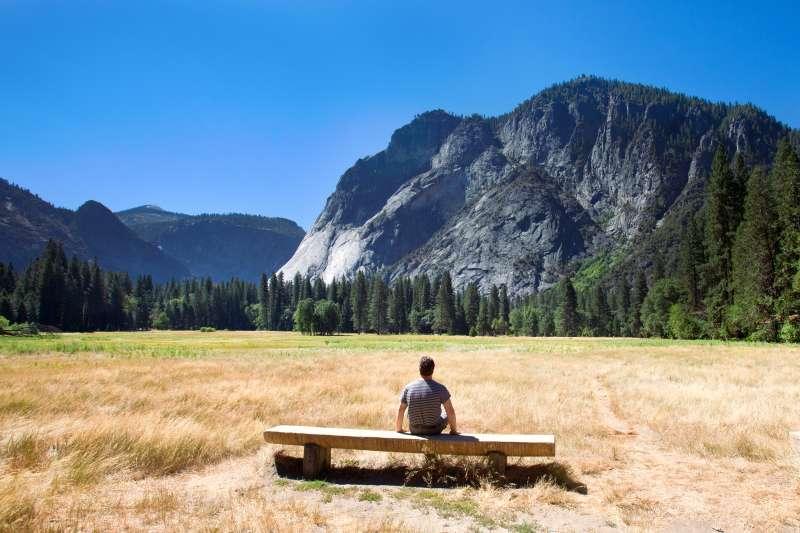 Bench in Yosemite Valley.