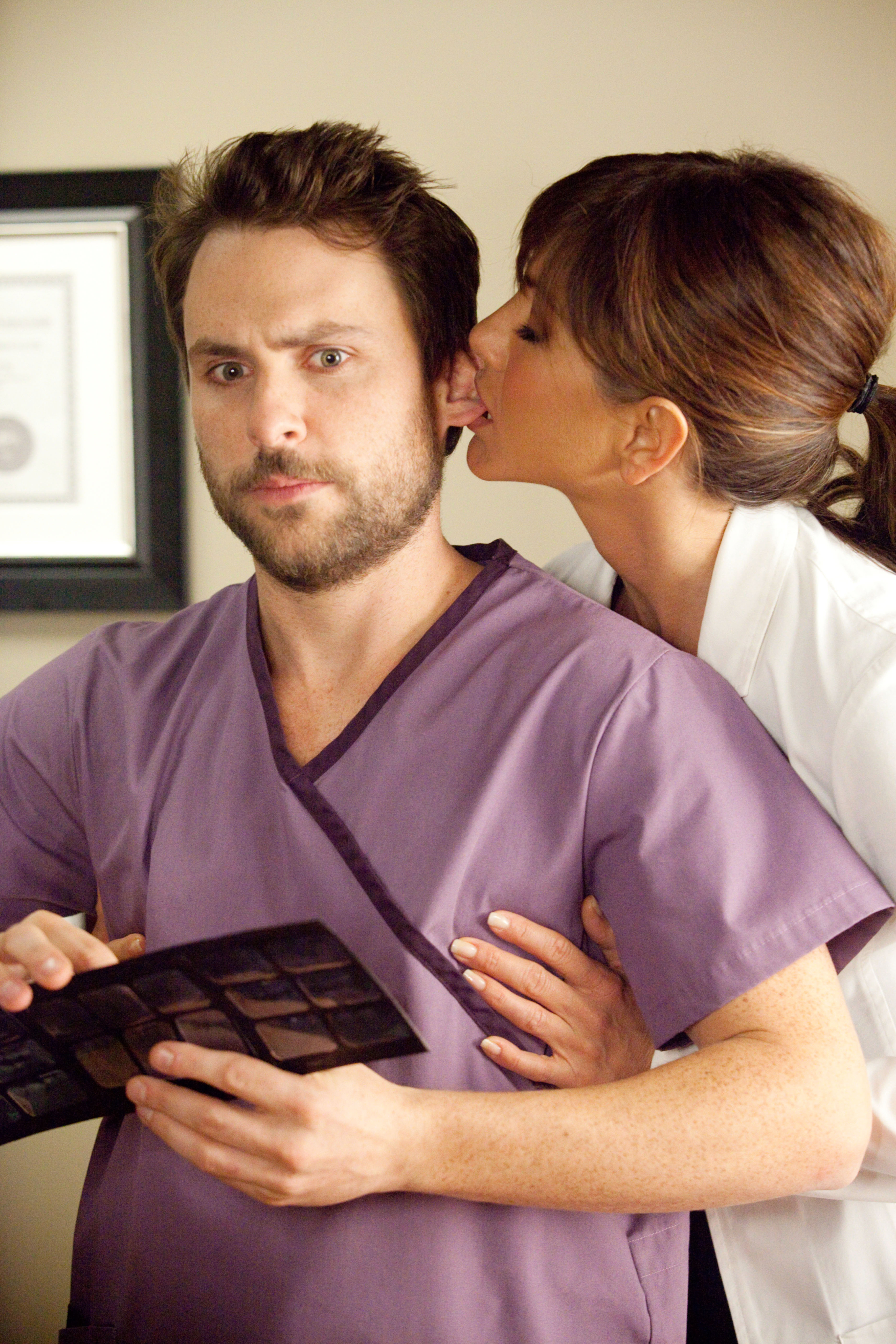 HORRIBLE BOSSES, from left: Charlie Day, Jennifer Aniston, 2011.