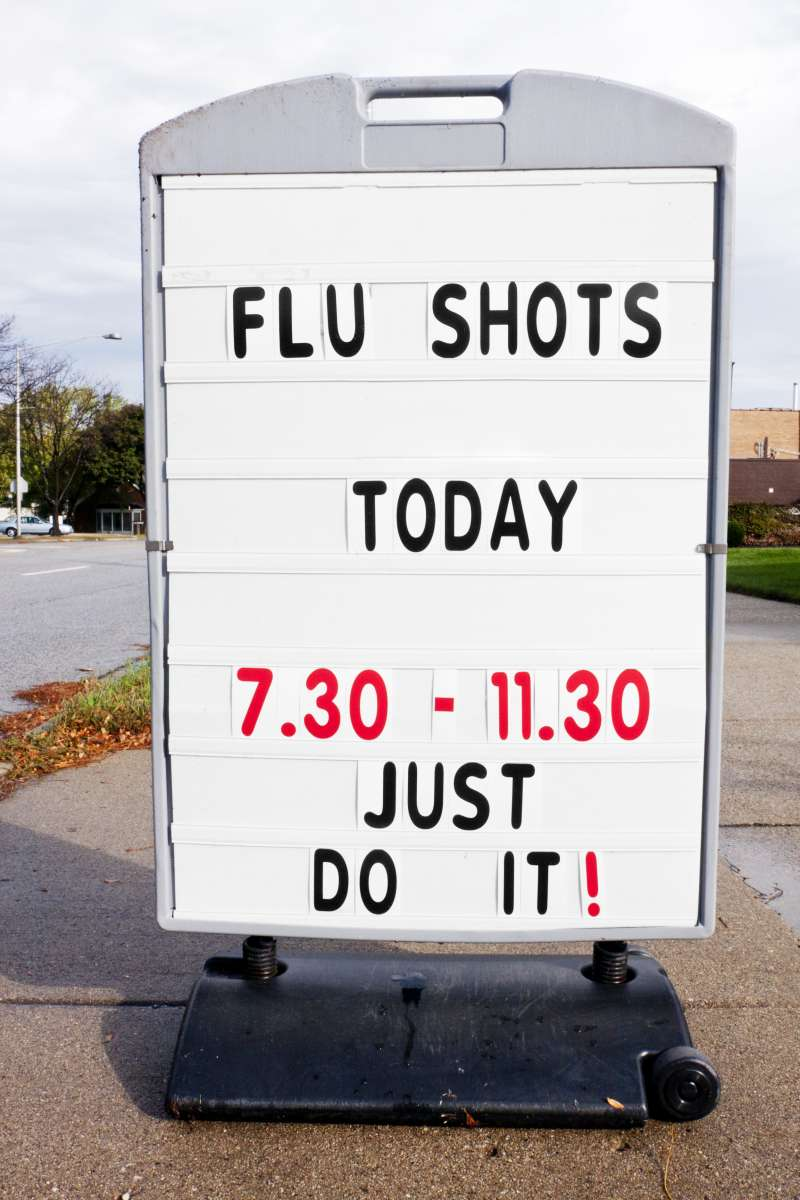 Flu Shot Sign