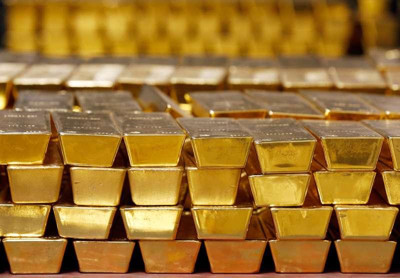 Stacks of gold bars