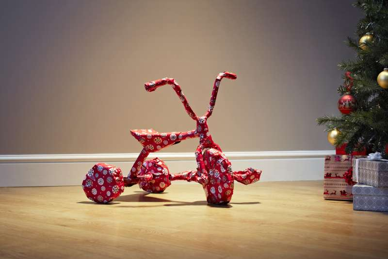 Wrapped bicycle