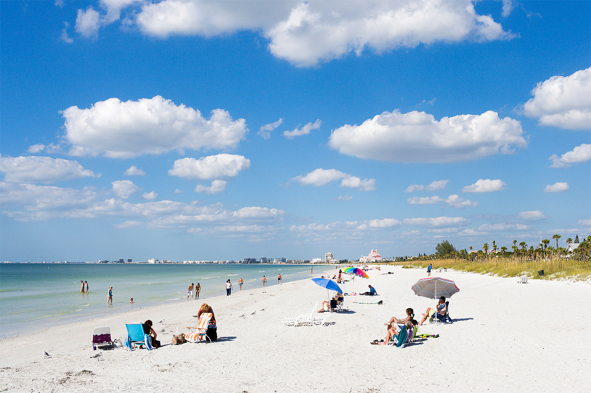 Beach at Pass a Grille, St Pete Beach, Gulf Coast, Florida, USA.