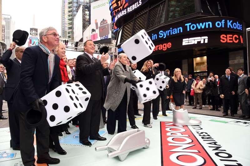 The  Monopoly Millionaire's Club  lottery launch at Times Square on October 20, 2014 in New York City.