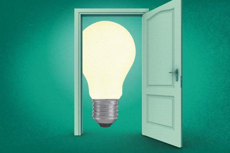 Lightbulb in doorway