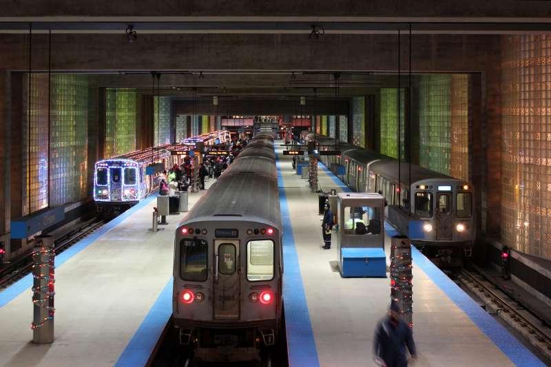 The Blue Line, Chicago, Illinois.