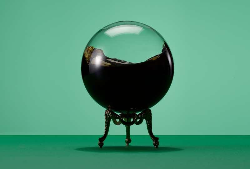 Fortune Teller's ball with oil sloshing inside