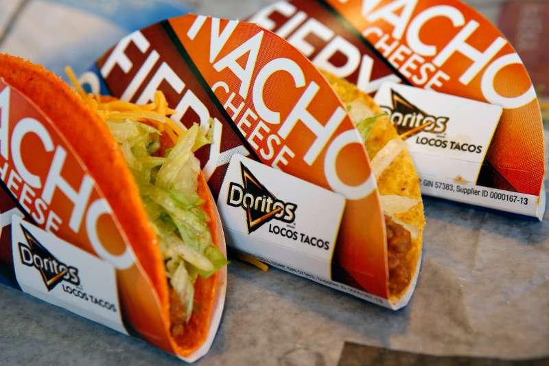 Doritos Locos tacos at a Taco Bell restaurant