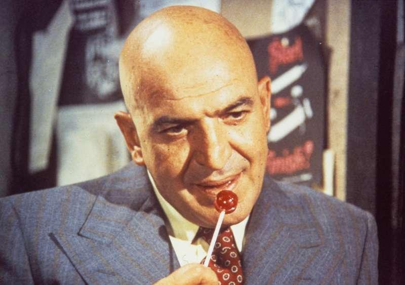 Telly Savalas of the TV series 'Kojak.'