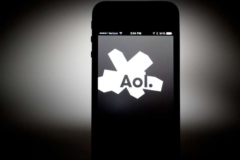 The Aol Inc. application is displayed on a Verizon iPhone.