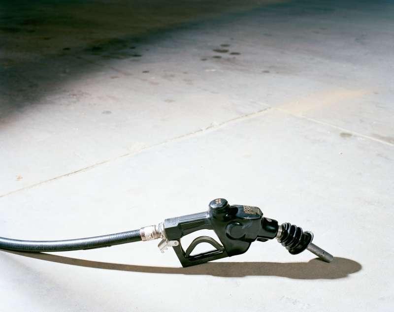 gas pump lying on ground