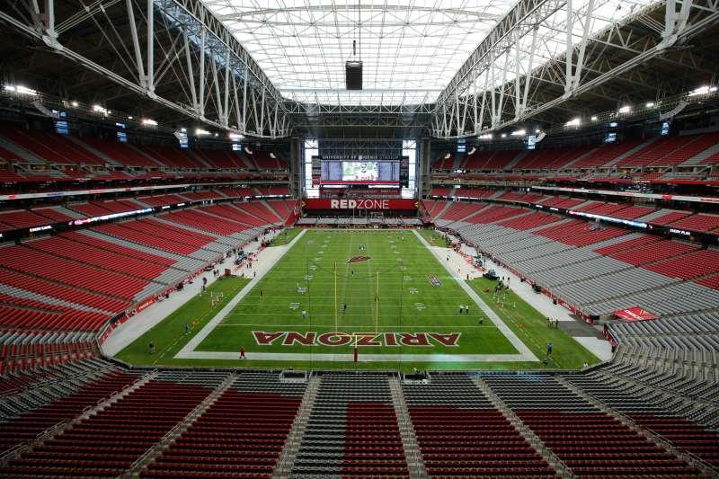 General view of the interior of University of Phoenix Stadium.