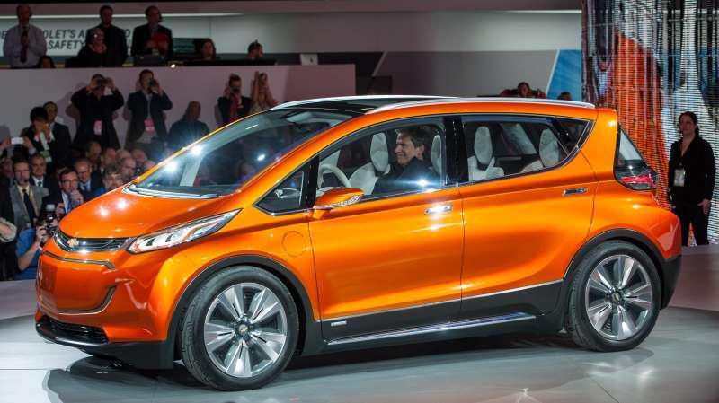 The Chevrolet Bolt EV concept vehicle