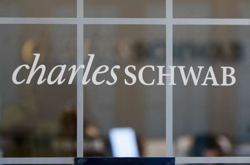Charles Schwab logo on window