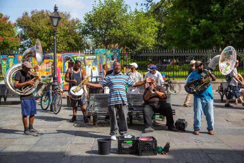 Brass band, Jackson Square, French Quarter
