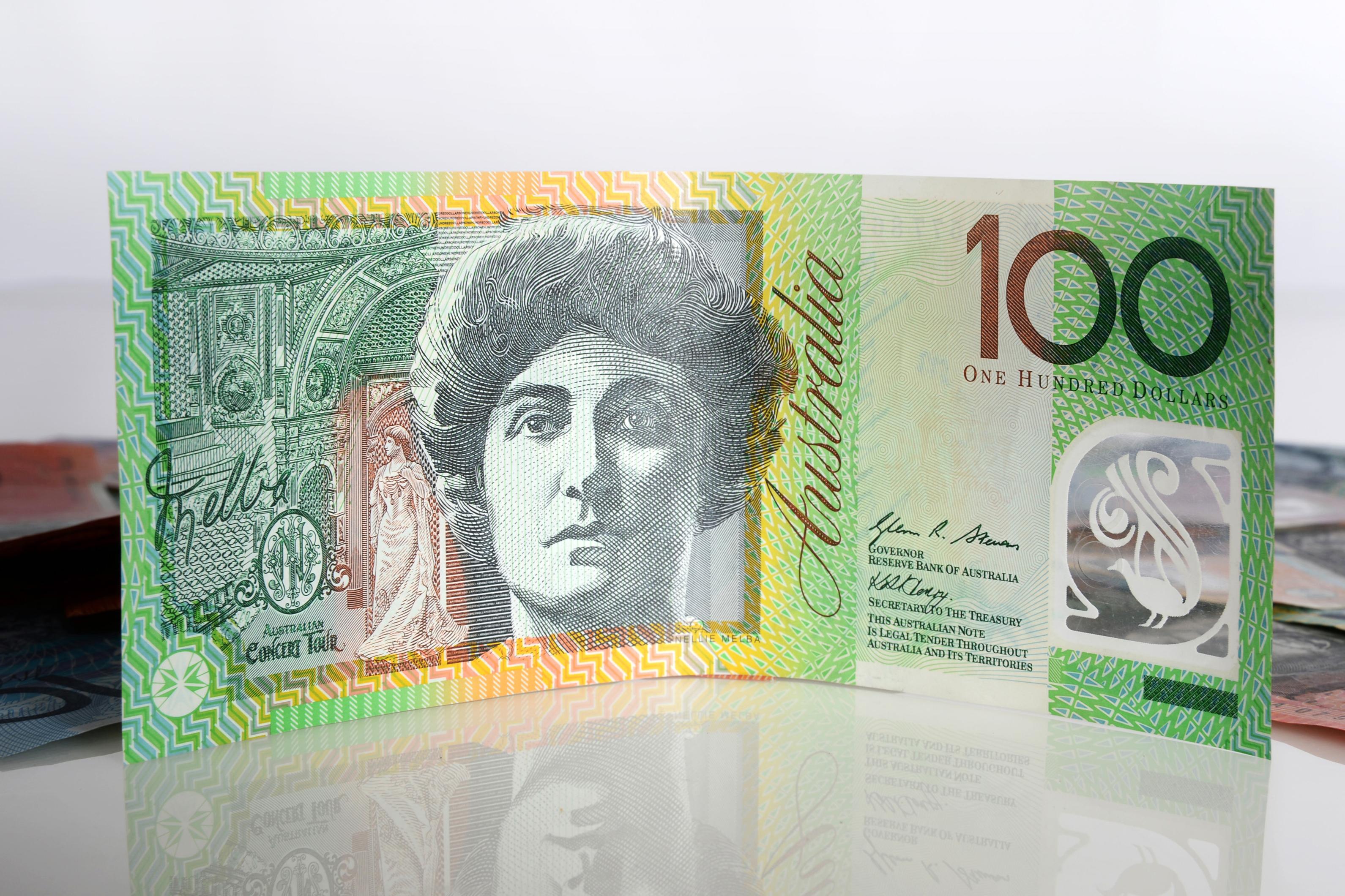 An Australian one-hundred dollar banknote