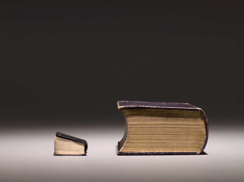 differently scaled books