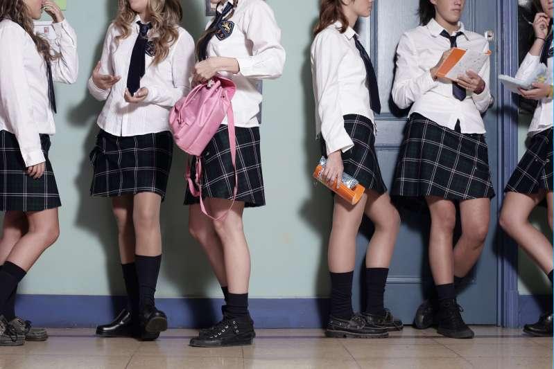School girls in uniforms