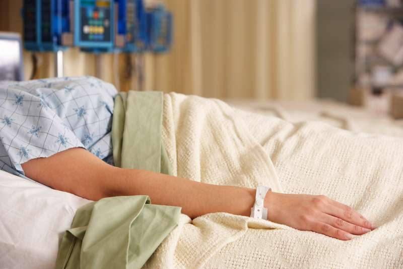 hospital patient in bed