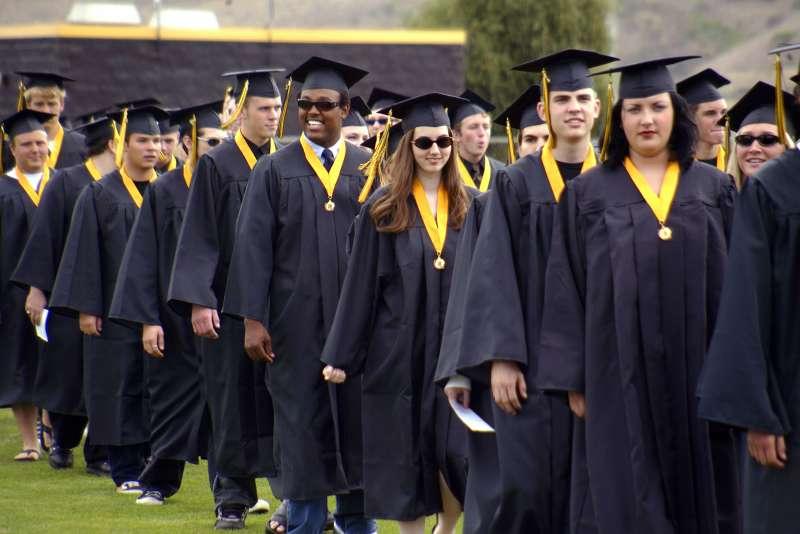 New college grads on procession