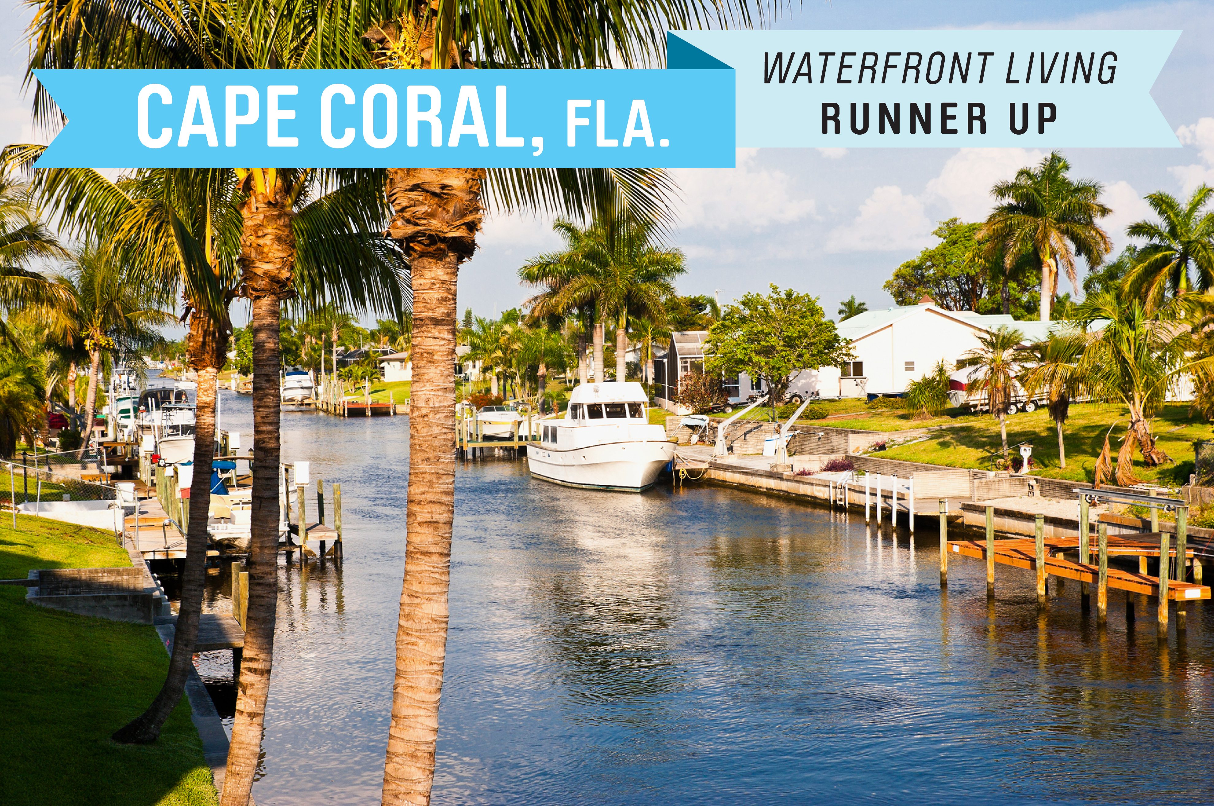 Two-thirds of Cape Coral are surrounded by water, either from the Gulf of Mexico or the Caloosahatchee River--and that doesn't include the 400 miles of canals. Florida residents pay no state income tax. The median home price in Cape Coral is $144,900.