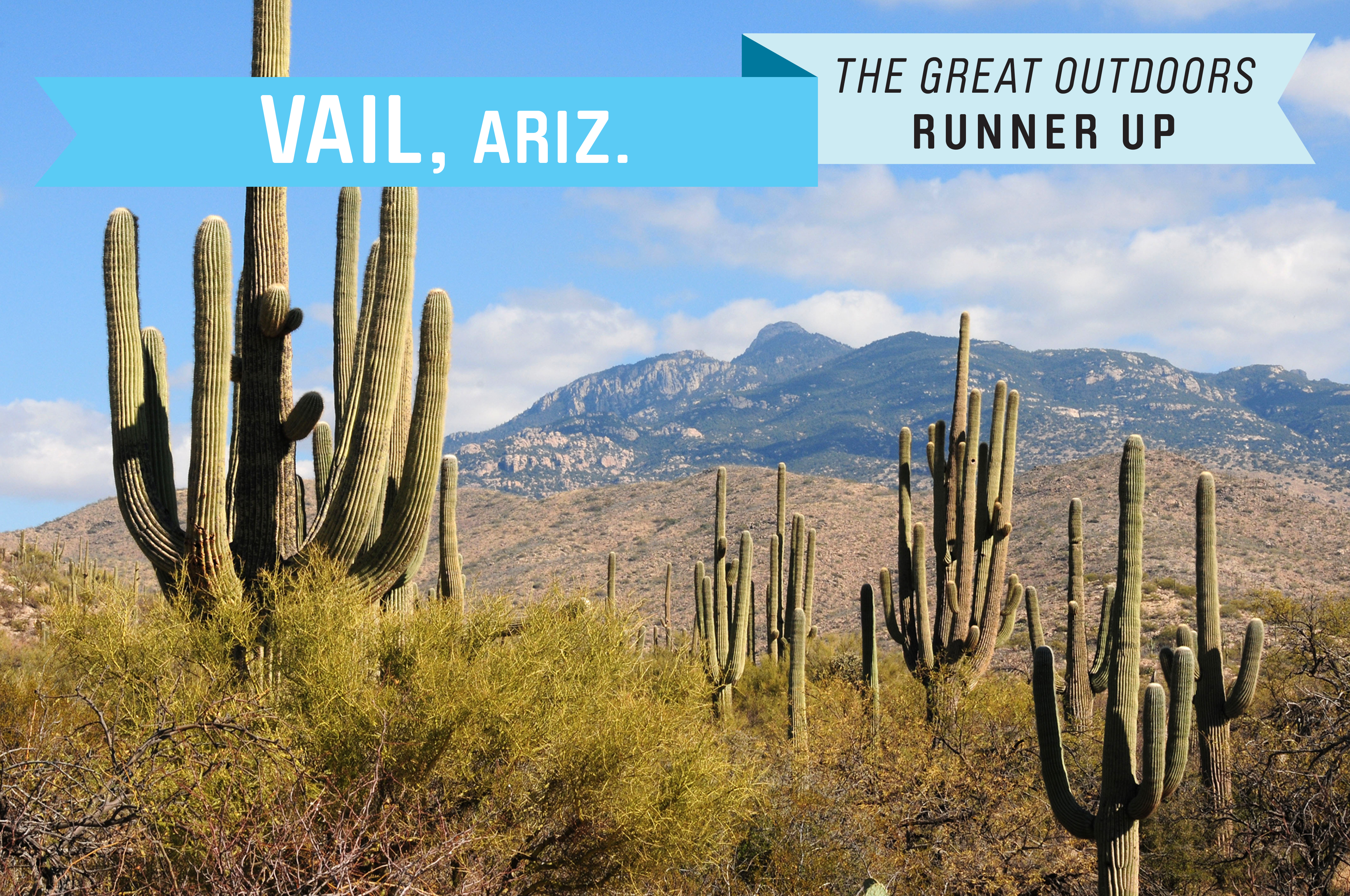 A growing community 22 miles southeast of Tucson, Vail is cooler than many desert towns, thanks to the natural air conditioning provided by the Rincon Mountains. It's also more affordable than many similar retirement destinations, with a  median home price of just under $200,000.