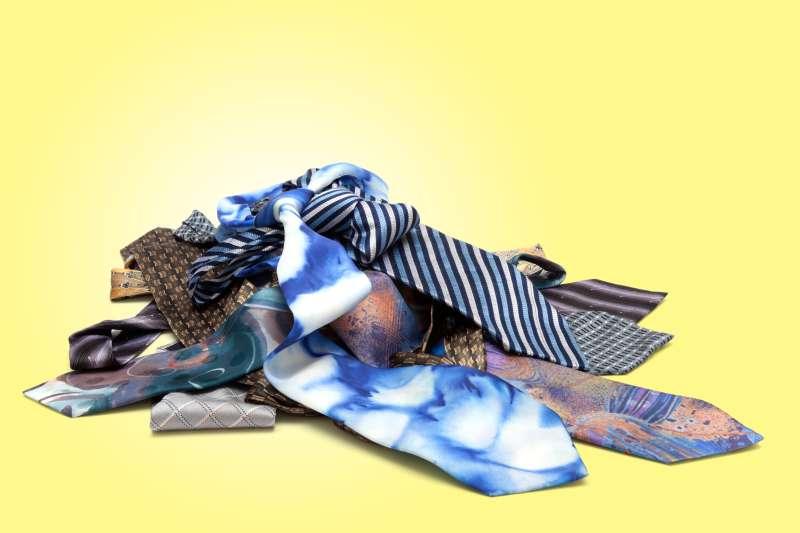 ugly ties in a pile