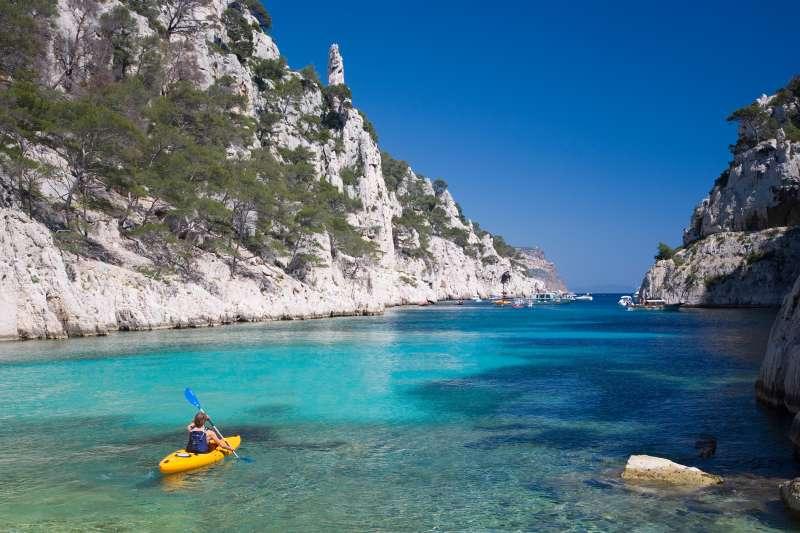 kayak on ocean in France
